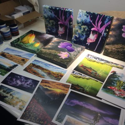 A table full of prints is a good thing!