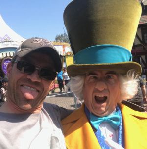 The Mad Hatter in Disneyland!